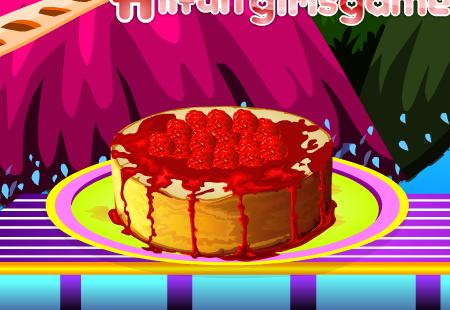 تحضير كعكة بالفراولة