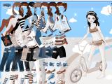 تلبيس راكبة الدراجة الصغيرة
